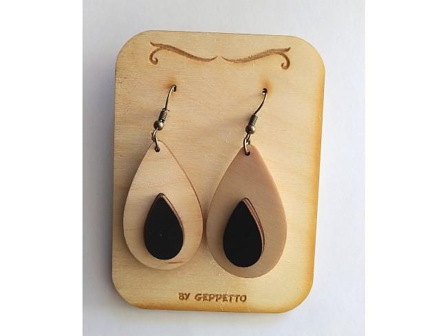 Ξύλινα σκουλαρίκια