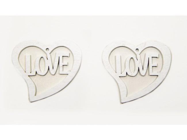 ΞΥΛΙΝΗ ΚΑΡΔΙΑ LOVE 4.5x4.5cm 0519573