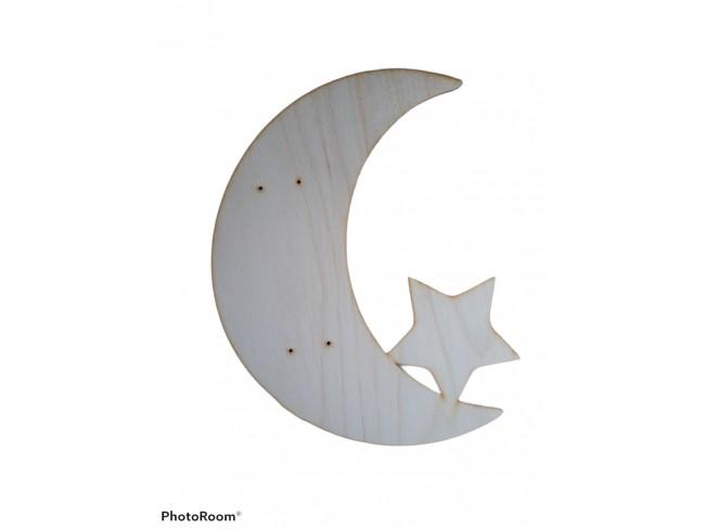 Ξύλινη πλάτη για λαμπάδα φεγγάρι