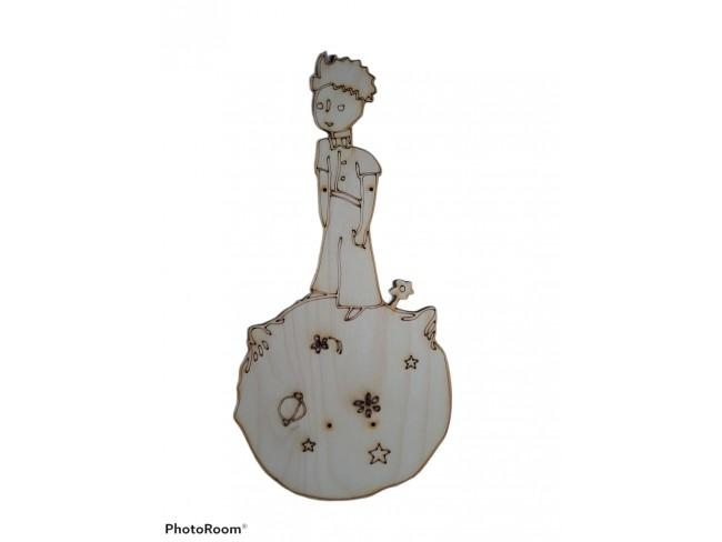 Ξύλινη πλάτη για λαμπάδα μικρός πρίγκιπας